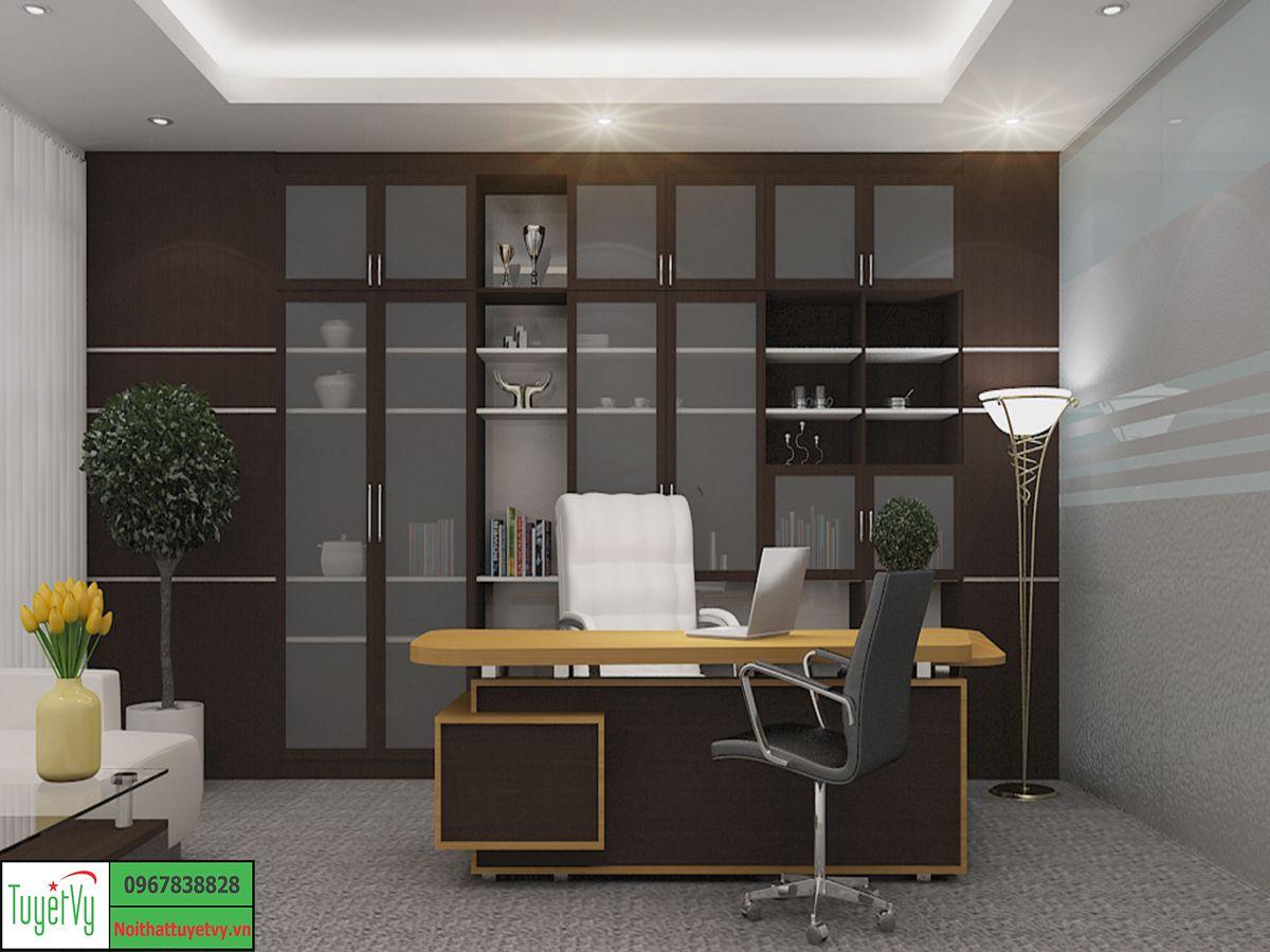 Thiết kế, sản xuất, thi công nội thất phòng giám đốc tại Hà Nội