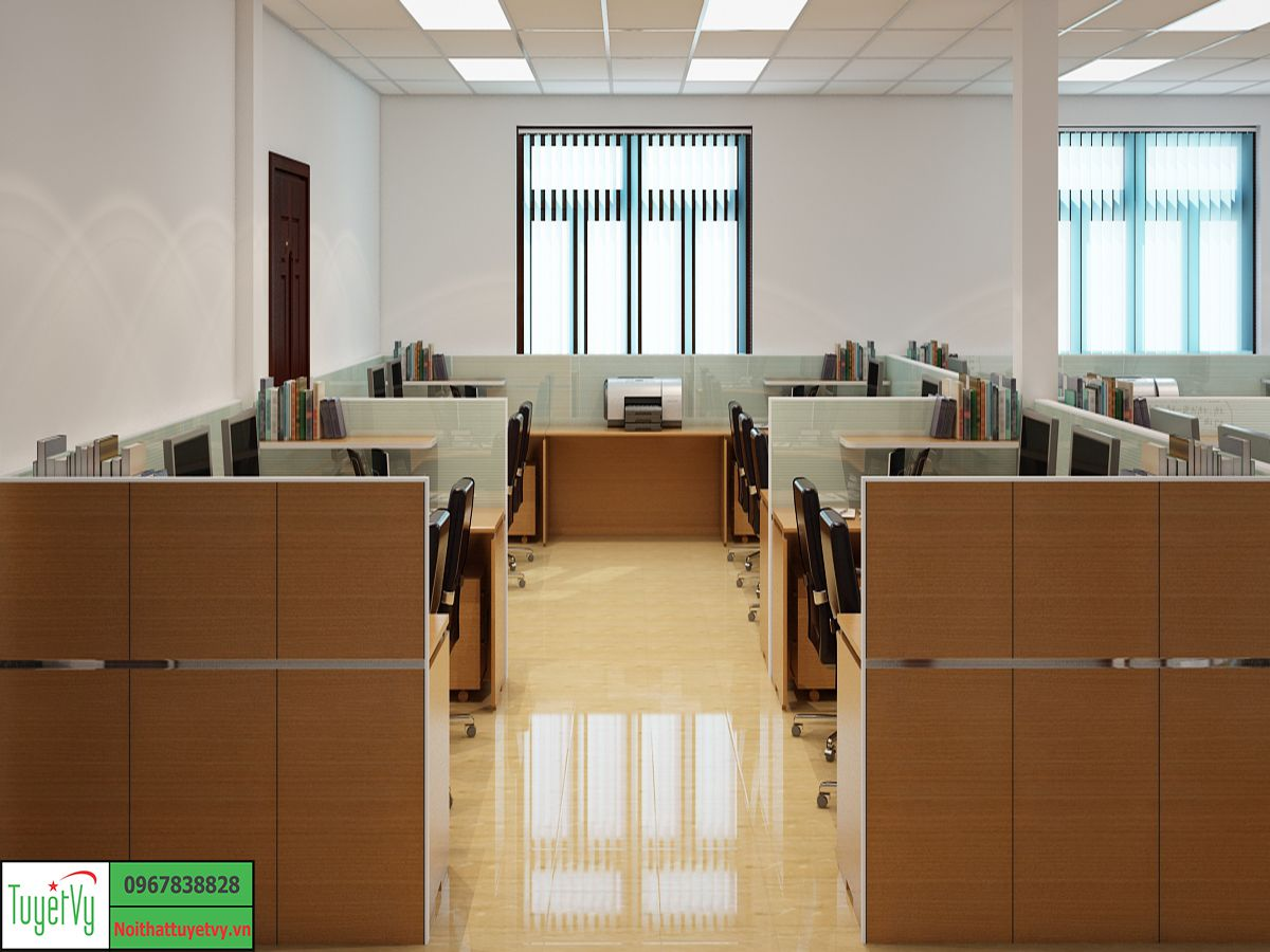 Nội thất phòng nhân viên gỗ công nghiệp