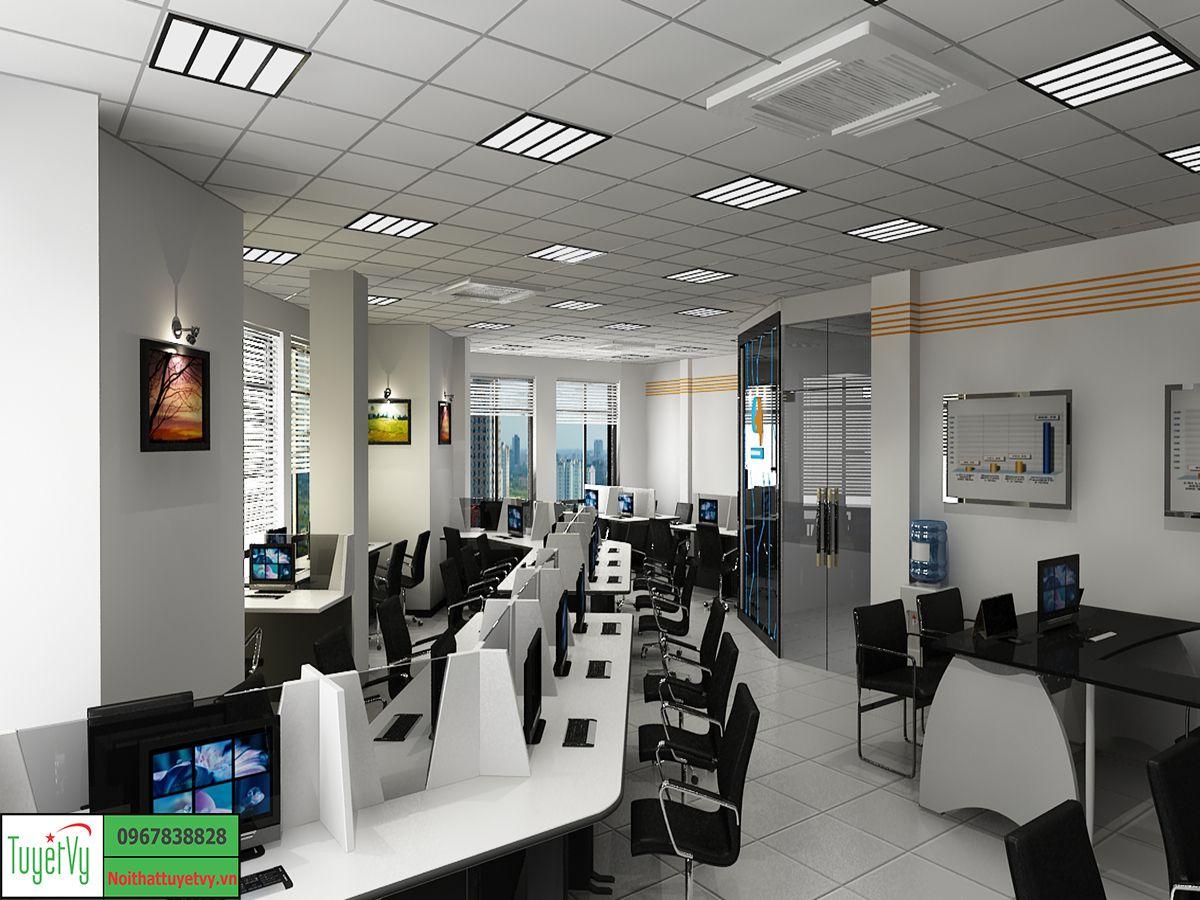 Phòng nhân viên hiện đại tông màu Đen - Trắng
