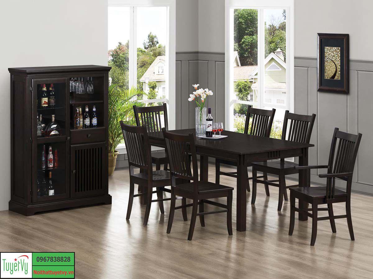 bàn ghế ăn 6 ghế đơn giản