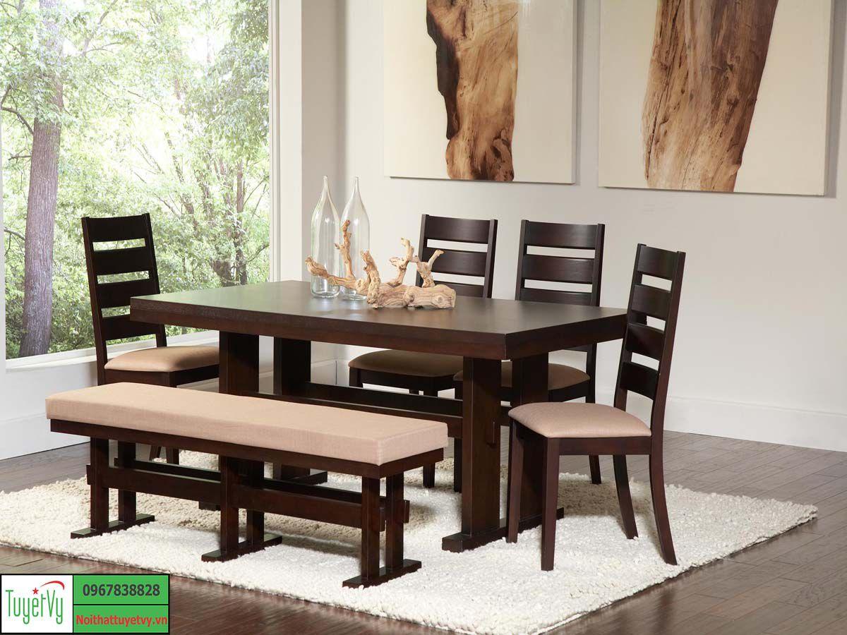 Bàn ghế gỗ phòng bếp