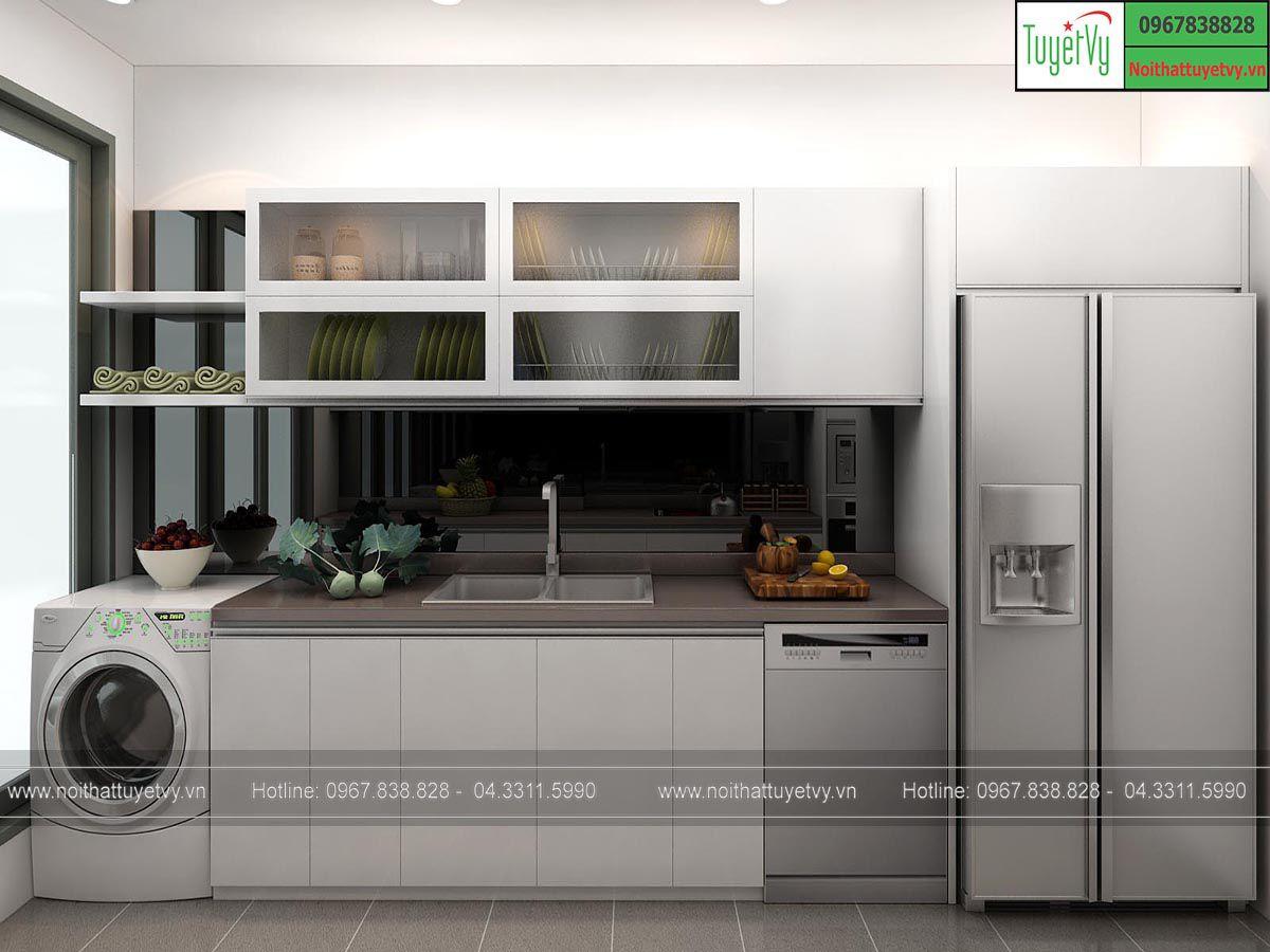 Tủ bếp gỗ đẹp 2107