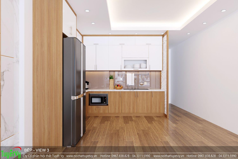 Tủ bếp đẹp gỗ công nghiệp
