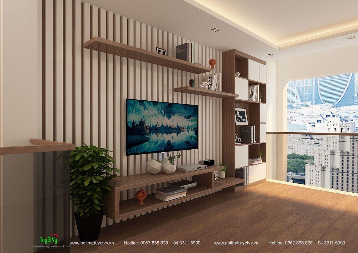 Kệ tivi gỗ công nghiệp - KTV15