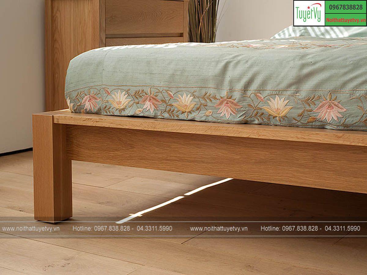 giường gỗ Sồi tự nhiên