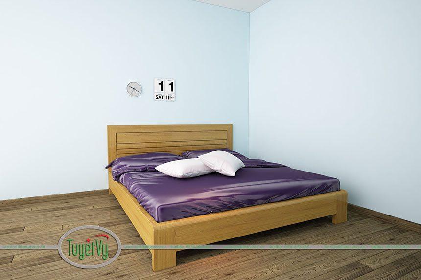 giường ngủ gỗ tự nhiên tuyết vy
