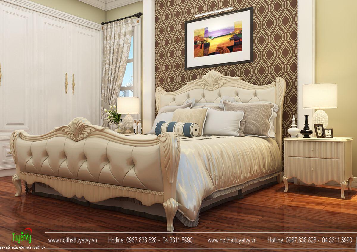Giường ngủ tân cổ điển - GN20