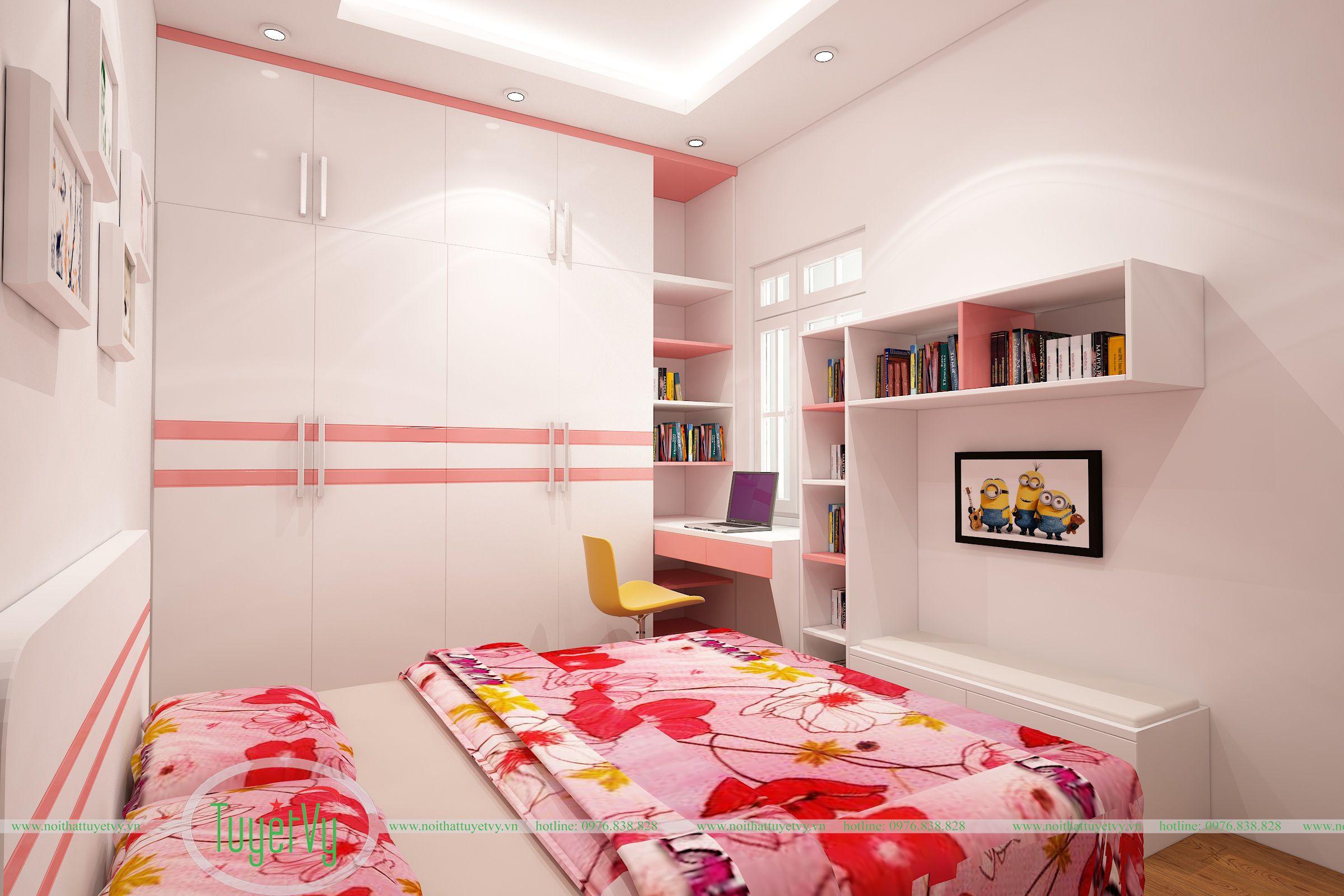 phòng ngủ bé gái 1