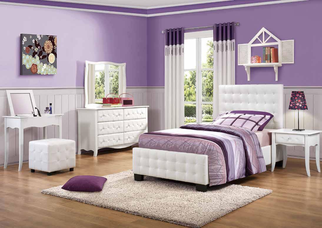 phòng ngủ đẹp màu tím