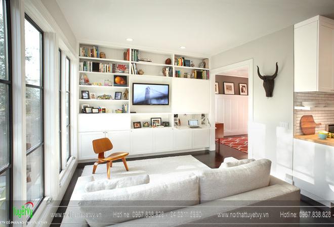 Những gọi ý trang trí và thiết kế phòng khách nhỏ 05