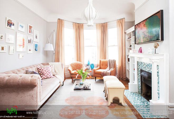 Những gọi ý trang trí và thiết kế phòng khách nhỏ 06