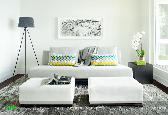 Những gọi ý trang trí và thiết kế phòng khách nhỏ 07