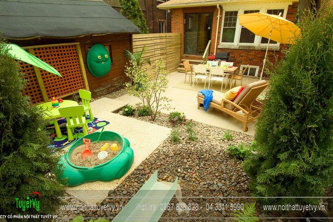 Thiết kế sân vườn theo kiến trúc phương Tây 08