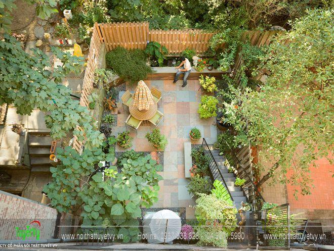 Thiết kế sân vườn theo kiến trúc phương Tây 12